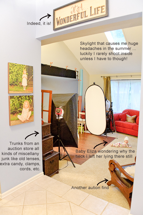 PSE Actions Photography Studio Set Up Pull Back