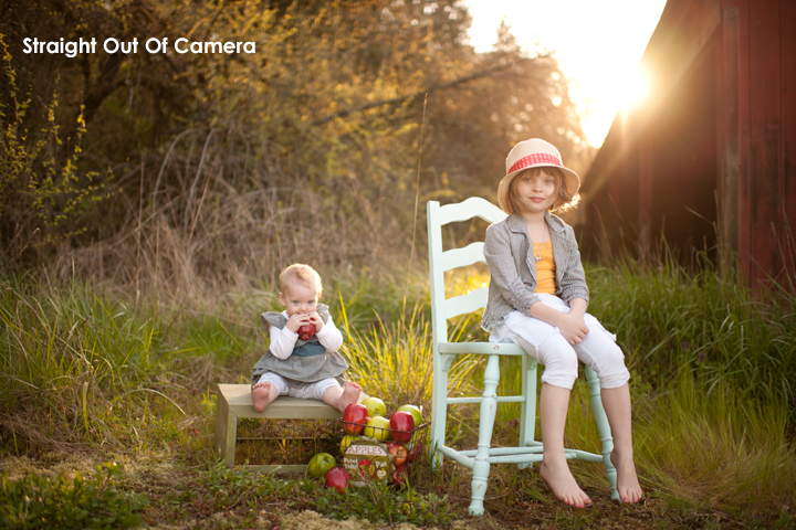 photoshop actions elements outdoor backlit sun flare tutorial