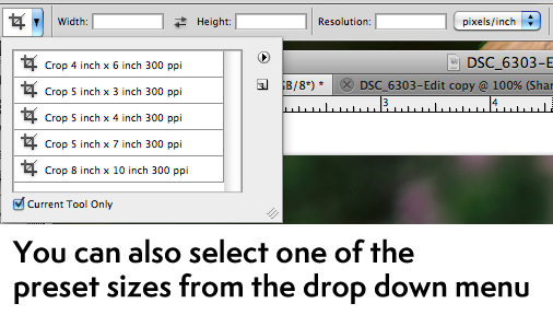 Aspect Ratio and How To Crop Photos | Photoshop Actions