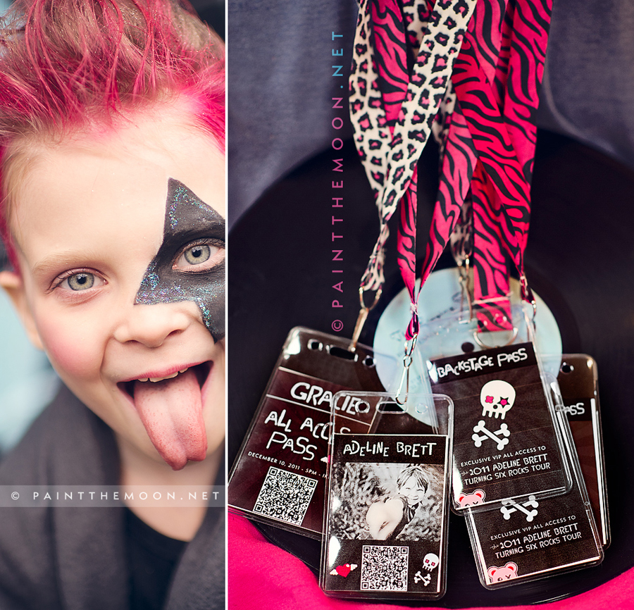 Photoshop Actions Rock Star Kid's Birthday Party Photos Punk PSE