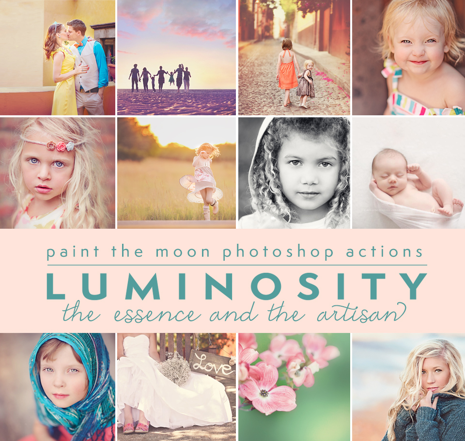 Luminosity Photoshop Actions by Paint the Moon - Matte, Color, Workflow, All-In-One, Light
