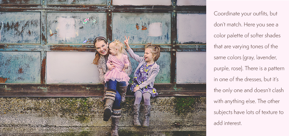 What to Wear for Kids and Family Photos | Clothing Where to Shop | Paint the Moon Photoshop Actions