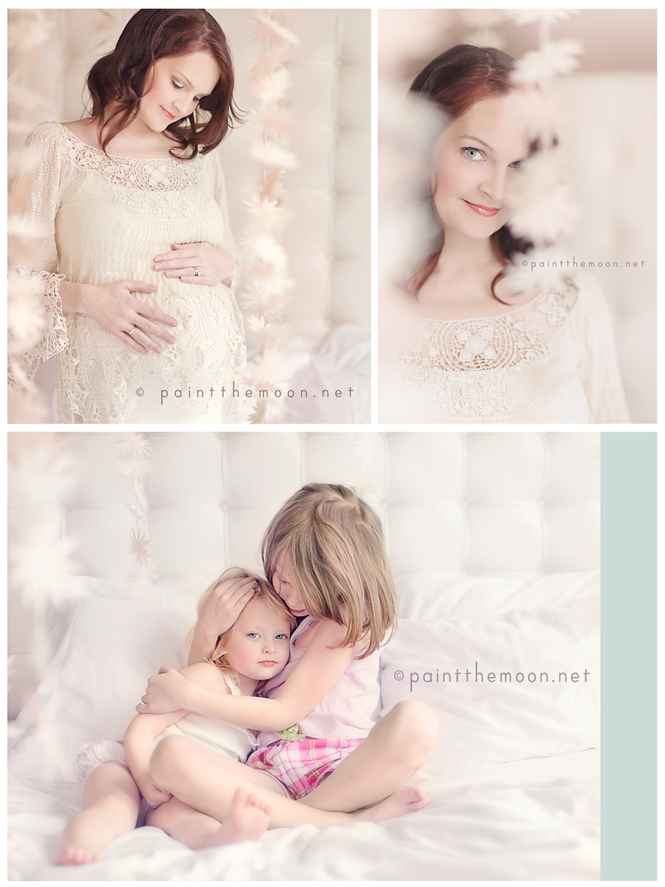 Maternity Photography | Soft, Indoor, Natural Light - Creamy, Film | Paint the Moon Photoshop Actions
