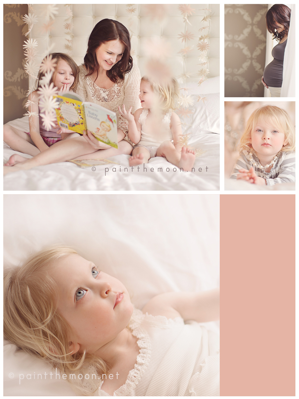 Maternity Photography | Soft, Indoor, Natural Light | Paint the Moon Photoshop Actions