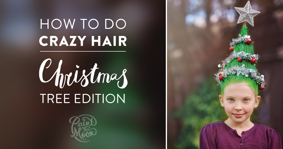 Christmas Tree Crazy Hair Tutorial How To Photos