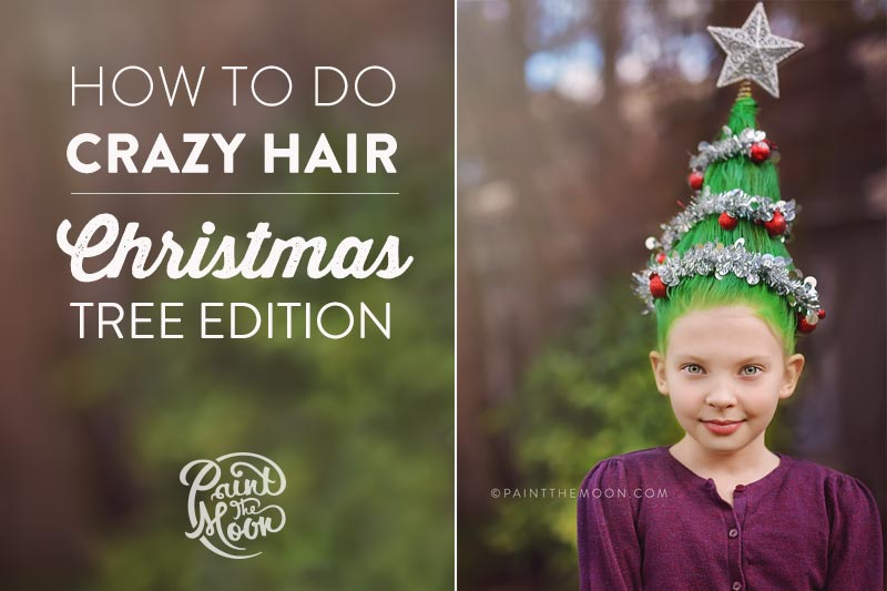 Crazy Hair Day Christmas Tree