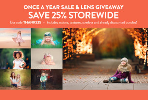 Black Friday / Cyber Monday Sale and Lens Giveaway by Paint the Moon