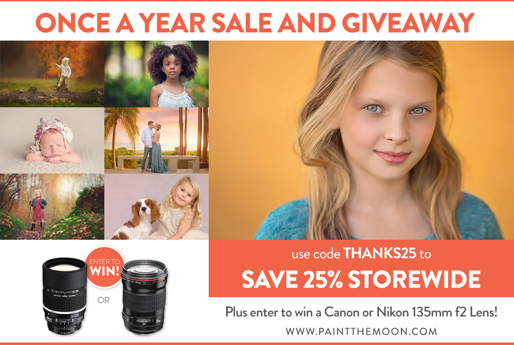 Black Friday Photoshop Actions Sale and Lens Giveaway - Cyber Monday